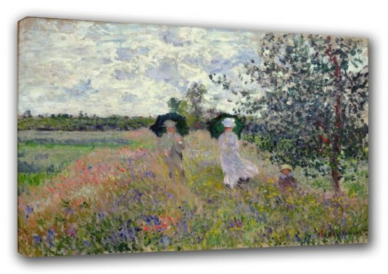Monet, Claude: Promenade near Argenteuil. Fine Art Canvas. Sizes: A3/A2/A1 (003223)